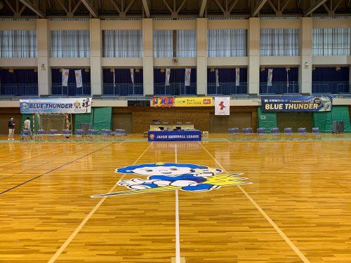 北陸電力ハンドボールチーム垂れ幕施工例